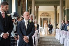 Groom waiting for the Bride at The Sculpture Gallery, Woburn Abbey Woburn Abbey, Country House Wedding Venues, Spring Wedding, Photo Ideas, Wedding Flowers, Waiting, Wedding Photos, Groom, Wedding Photography