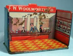 Original Tin Marx Lithographed Home Town FW Woolworth & Co.