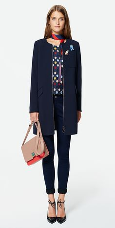 MAX&Co. SS 2016 - Coat PALATINO / T-Shirt PAGAIA / Jeggings DOC / Scarf ACETO / Cross-Body Bag ABISSO / Pumps ACRONICO