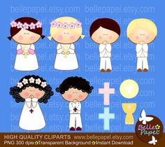 He encontrado este interesante anuncio de Etsy en https://www.etsy.com/es/listing/212770050/holy-communion-girls-and-boys