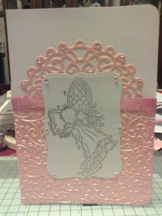 christening card made 16/10/2012