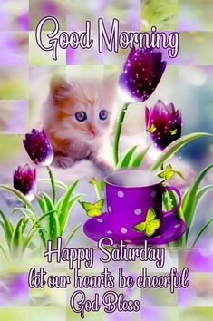 Top Good Morning Saturday Quotes Of The Day 10 really beautiful good morning saturday quotes. These saturday quotes with images will jumpstart your beautiful day. Good Morning Saturday Images, Good Morning Nature, Cute Good Morning Quotes, Good Morning Inspiration, Saturday Quotes, Good Morning Gif, Good Morning Wishes, Morning Messages, Sunday Morning