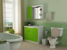 Small Bathroom Remodeling Pictures And Ideas Small And Cozy - Green bath towels for small bathroom ideas