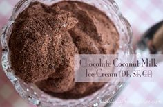 Chocolate coconut milk ice cream with arrowroot and gelatin