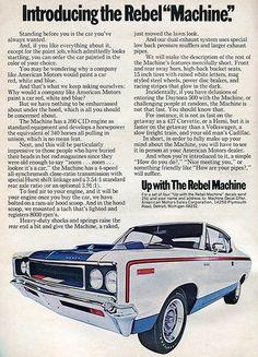 1970 AMC Rebel Machine Hot Rod Advertisement January 1970