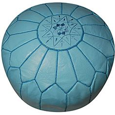 @Overstock - This handmade Moroccan leather pouf ottoman has been beautifully hand-stitched by skilled artisans in Morocco. Taking about seven individual artisans to create, this pouf also features a stylish sky blue color.  http://www.overstock.com/Worldstock-Fair-Trade/Leather-Sky-Blue-Pouf-Ottoman-Morocco/5710644/product.html?CID=214117 $214.99