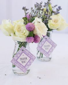 These personalized diamond wedding favor gift tags add a sophisticated look to any wedding favor or diamond anniversary favor.