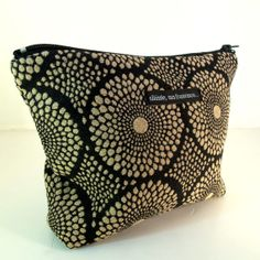CLUTCH. Cosmetic purse. Makeup case. Black and by slaintebags, $36.00