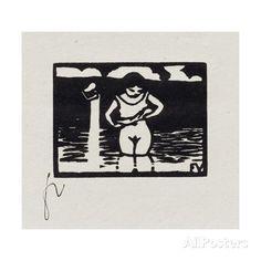 felix-vallotton-girl-removing-her-shirt-vi-from-les-petites-baigneuses-1893.jpg (473×473)