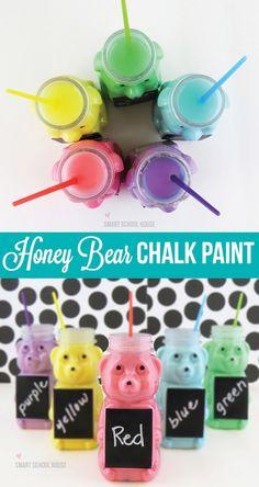 Easy Honey Bear Chalk Paint Recipe (for kids!)#DIY #CartersHoliday