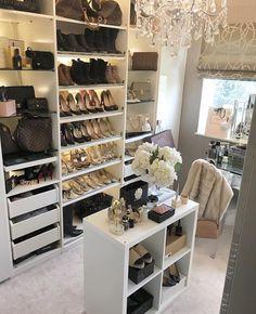 Ideas Glam Closet Decor For 2019 Glam Closet, Closet Vanity, Luxury Closet, Walk In Closet Small, Walk In Closet Design, Closet Designs, Small Closets, Dressing Room Closet, Dressing Room Design