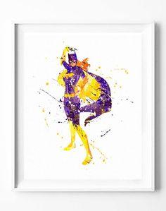 Batgirl Poster Art Print Superhero Batman Watercolor Painting Wall Art Home Decor Nursery Kids Gifts for Him [157]  #batgirl #batman #justiceleague #superhero #dc #comics #movie #watercolor #print #poster #homedecor #wallart #gifts #nuresey #kids  https://subcow.net  FREE SHIPPING to worldwide + 20% off DISCOUNT