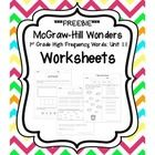 This+FREEBIE+includes+worksheets+for+the+sight+words+for+Unit+1.1+from+the+1st+Grade+McGraw-Hill+Wonders+curriculum.  Each+sight+word+has+two+works...