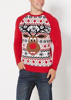 Dopey Reindeer Ugly Christmas Sweater | rue21