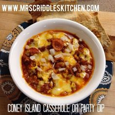 Coney Island Casserole or Party Dip - Mrs. Criddles Kitchen