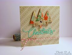 card christmas tree trees scripty christmas #Memorybox #Christmas card