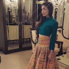 The one Girl we love dressing up @zarapeerzada  #fashion #highfashion #Model #Designer #colour #Muse #love #funky #dance #mehndi.