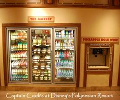 Disney's Polynesian Village Resort - inside Captain Cook's Food Court.   For more resort photos & information, see: http://www.buildabettermousetrip.com/disneys-polynesian-resort  #WDW #Disneyworld #Poly