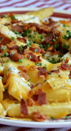 Loaded Bacon, Cheddar, and Ranch French Fries