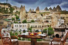 Aren cave hotel-terrace- breakfast