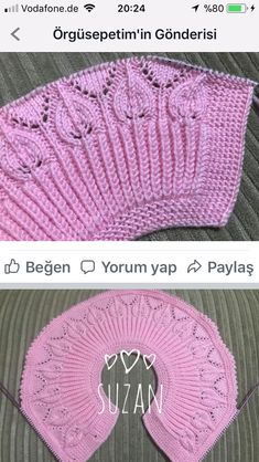 Acıklama ve ornek icin tesekkus media cache 52 ddhäkeln stricken : This Pin was discovered by Sev, Knitting Stiches, Knitting Videos, Lace Knitting, Knitting Projects, Crochet Stitches, Knit Crochet, Knitting Charts, Crochet Hats, Knitting Patterns