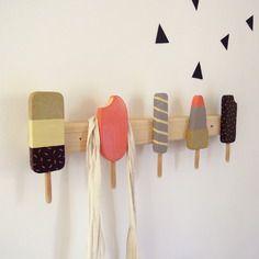 Porte manteaux glaces pour enfants bois