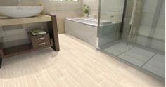 6-in x 24-in Leonia Sand Glazed Porcelain Floor Tile