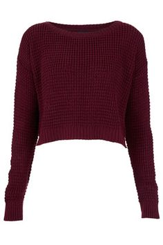 Cute Cropped Sweater TOPSHOP	Knitted Textured Crop Jumper