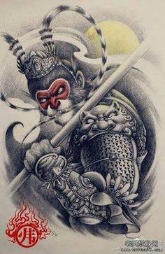 Resultado de imagem para sun wukong tattoo