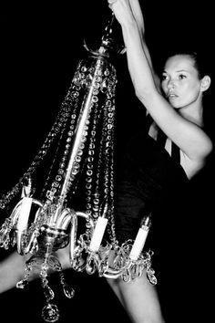 Kate Moss for Topshop FW10.  Haven't we all wanted to swing from the chandelier?