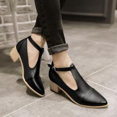Covered T Straps Sandals Low Chunky Heels 2443 #sandalsheelslow