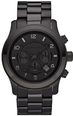 MICHAEL Michael Kors Michael Kors 'Large Runway' Blacked Out Chronograph Watch, 45mm