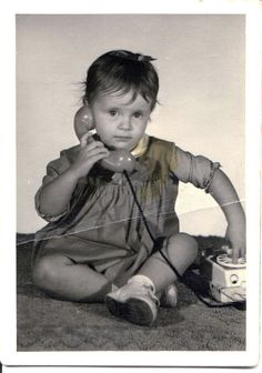 Me at age three, photo taken in Newgulf, Texas. Funny, I've always detested talking on the telephone as an adult.