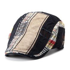 4e86be102a8 Patchwork Cotton Adustable Paper Boy Newsboy Cabbie Golf Ivy Gentleman Cap.  Sun HatsWomen HatsHats For MenMens GearVisorsCool HatsHeadgearBeretMens Caps
