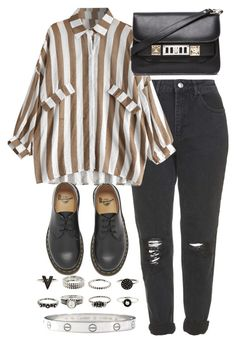 """Untitled #3769"" by plainly-marie ❤ liked on Polyvore featuring Topshop, Dr. Martens, Proenza Schouler and Cartier"