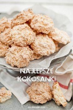 Moje Wypieki | Kokosanki (przepis II) Dessert Cake Recipes, Sweets Cake, Cookie Recipes, Gluten Free Christmas Cookies, Gluten Free Cookies, Polish Recipes, Polish Food, Food Cakes, Sans Gluten