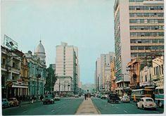 Avenida Rio Branco na década de 70.