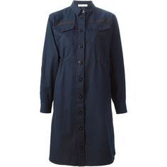 Sacai Luck buttoned shirt dress (10.720.315 IDR) ❤ liked on Polyvore