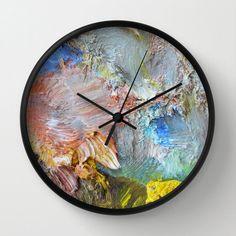 Folksy Painterly clock # DIY Home Decor inexpensive Diy Wood Wall, Diy Wall Decor, Mur Diy, Diy Clock, Clock Ideas, Wall Clock Decor, Wall Clock Design, Wall Art, Decoration Inspiration