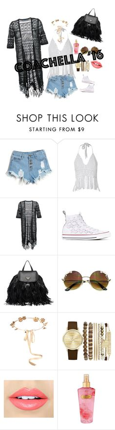 """""""Untitled #3"""" by louise-e-olsson ❤ liked on Polyvore featuring Guild Prime, Converse, Prada, Eugenia Kim, Jessica Carlyle, Fiebiger and Victoria's Secret"""