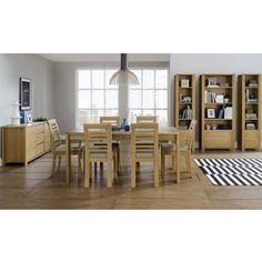 Casa #Oak 4-6 Extension Table and 4 Slatted #Chairs £798.00