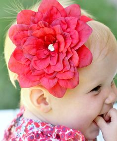 Love this Red Tootsie Flower HairBloom Headband by ToeBlooms on #zulily! #zulilyfinds