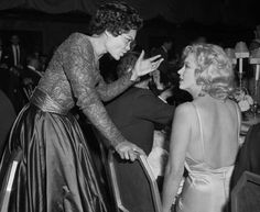 "Eartha Kitt + Marilyn Monroe, 1957: my caption - ""girl, you've got to stop getting attached to these boys!"""