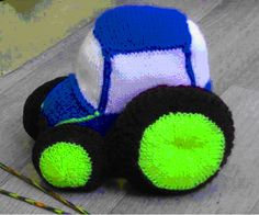 Tractor Knitting Pattern by CraftsbyDesignMelton on Etsy
