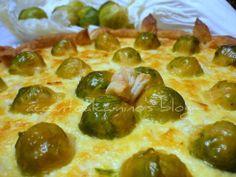 torta salata con cavolo cinese e cavoletti di Bruxelles