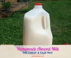 Homemade Almond Milk {the cheap & easy way}