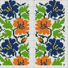 Cross Stitch Borders, Cross Stitch Flowers, Cross Stitch Charts, Cross Stitch Designs, Cross Stitch Patterns, Beaded Embroidery, Cross Stitch Embroidery, Embroidery Patterns, Hand Embroidery Videos