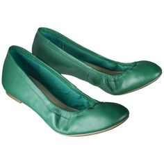 Women's Merona® Emma Genuine Leather Flat in Emerald, Clearance for $19.98 at Target