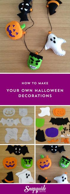 Follow this tutorial to make your own Halloween garland.