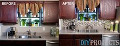 How to install DIY Peel-and-Stick backsplash tile - DIY Projects - http://go.shr.lc/1PDCtfy